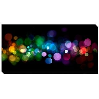 'Abstract Lights' Giclee Canvas Art