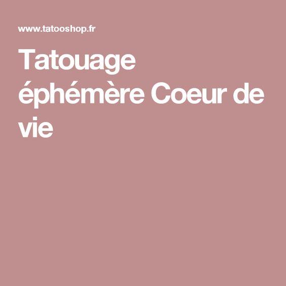 Tatouage éphémère Coeur de vie