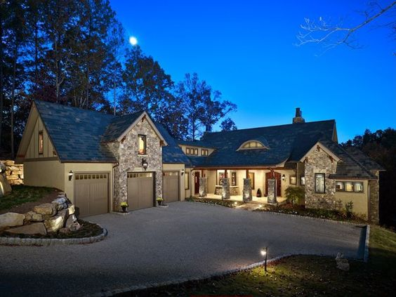 Country Home 3 Car Garage Design Architecture