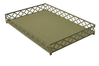Bar tray (Target) - Gothic inspired (quatrefoil).  Discontinued :(