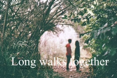 Image result for couple Go for long walks.