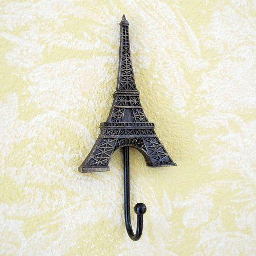 Eiffel Tower Wall Hook Vintage Style
