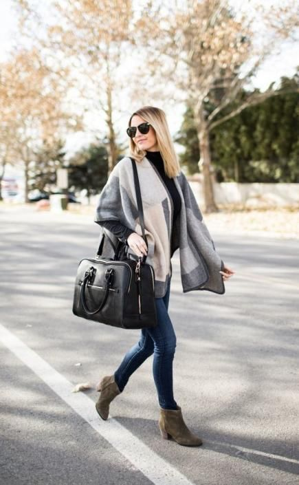 Invest in a neutral-color cape that pairs well with almost any outfit.