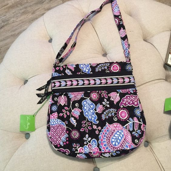 """NWT Vera Bradley TZH in Alpine Floral  This clever cross body features 3 separate zippered compartments. The main section has enough room for all the days must haves, while the front zippered compartments keep the most reached for essentials handy. The dimensions are 113/4"""" X 11.5"""" X 1.75"""" with a 55"""" adjustable strap. Ask me about bundling! This is from a smoke free home.  Vera Bradley Bags Crossbody Bags"""