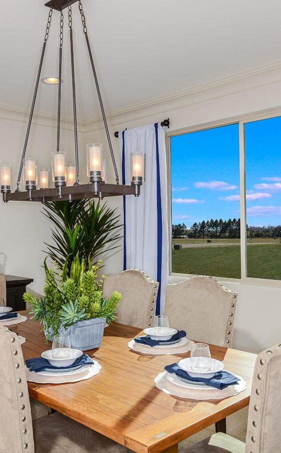 Great lighting and beautiful views make for a welcome homecoming. #newhomes #AZ #Gilbert #TaylorMorrison
