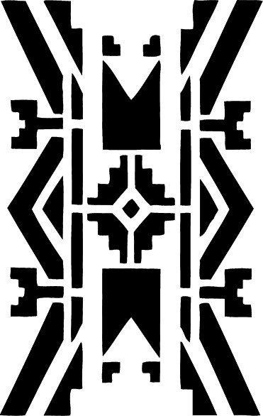 stencil native american wall border 10x15 8 the