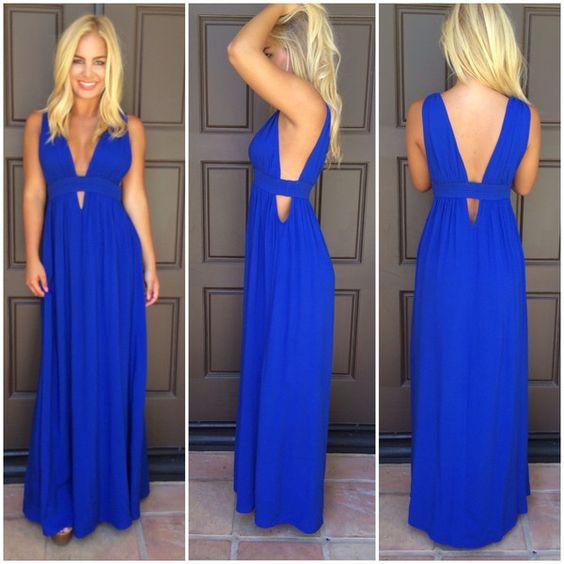 Kenya Cutout Maxi Dress - ROYAL BLUE - dresses - Pinterest - Blue ...