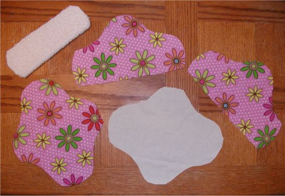 Cotton menstrual pad! I made my own pattern when I made mine, but this is a really simple shape! :-)