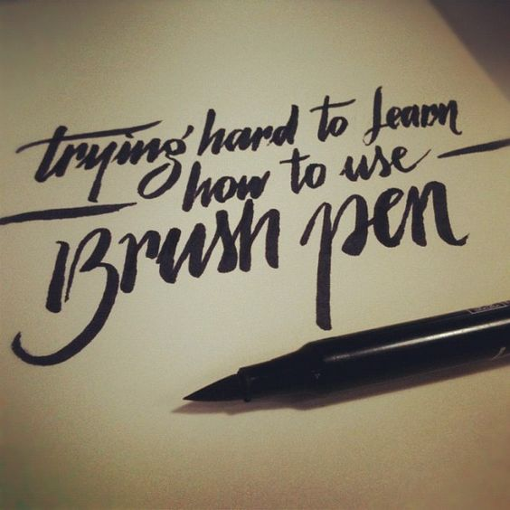 How to use a brush pen … dailycalligraphy typography