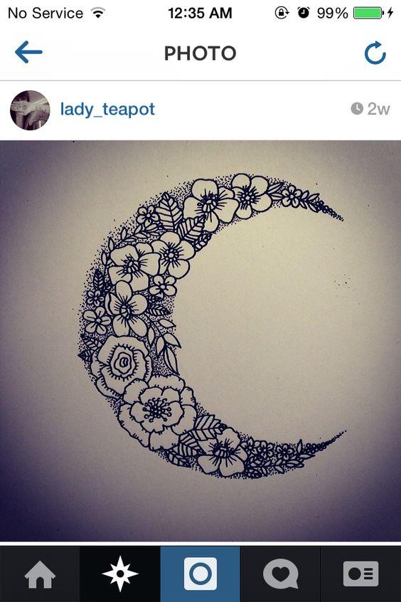 floral crescent moon Deze vindt ik misschien nog het mooist! maar zou dit kunnen…