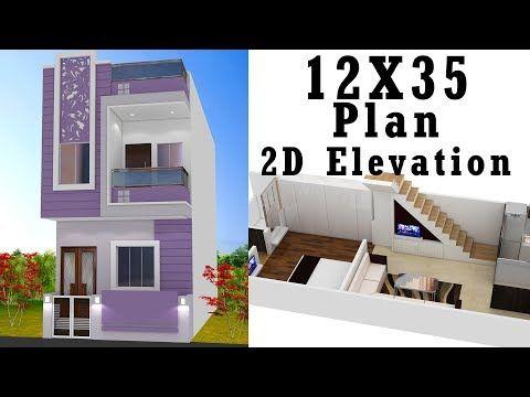 12x35 House Plan With Elevation By Nikshail Youtube Narrow