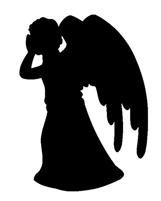 weeping angels doctor who and stencils on pinterest