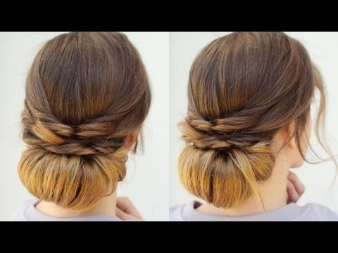 Quick And Easy Heatless Updo Heatless Hairstyles Braidsandstyles12 Youtube Easy Hairstyles Heatless Hairstyles Easy Chignon