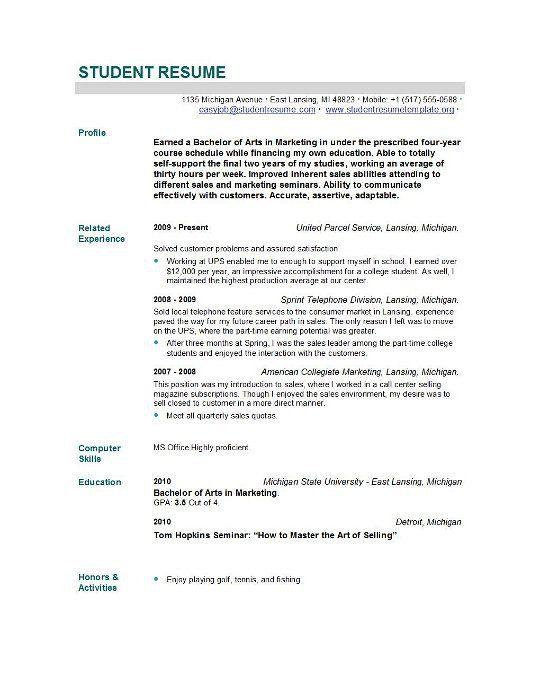 recent graduate resume samples
