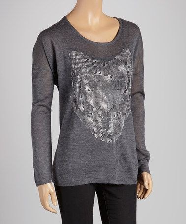 Take a look at this Gray Tiger Damita Wool-Blend Top by OXMO on #zulily today! $65 !!