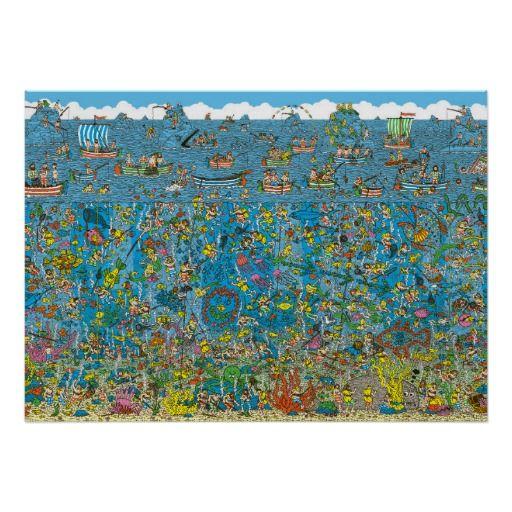 Where's Waldo Deep Sea Divers Poster