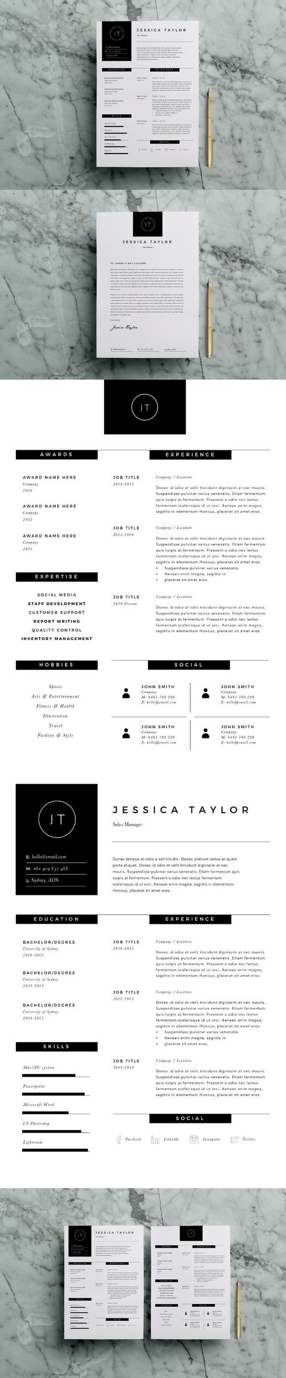 Microsoft Word 2007 Template For Resume%0A Professional Resume V   by Graphicsegg on Creative Market   resume    Pinterest   Professional resume  Cv template and Template