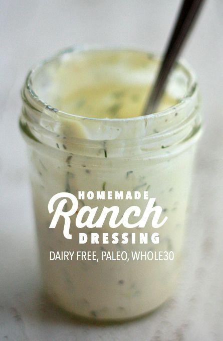 Paleo ranch dressing, Dressing and Paleo on Pinterest