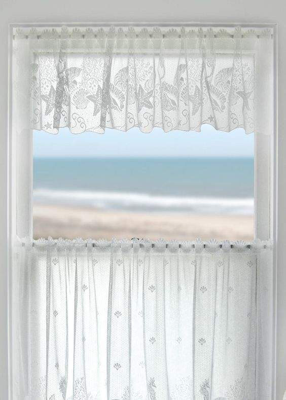 Seascape Lace Valance