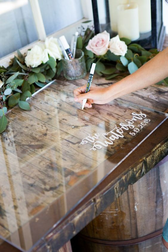 Personalized Clear Acrylic Wedding Guestbook – Z Create Design