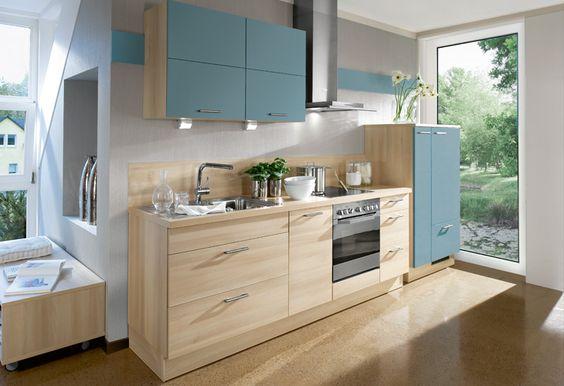 Küche in Hellblau #Küchenzeile wwwdyk360-kuechende Hellblaue - küche bei poco