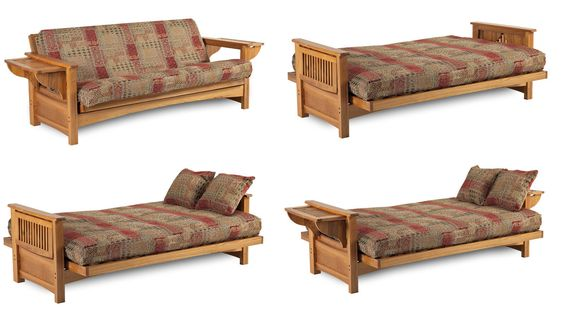 Townsend Solid Oak Futon Frame At Www Dcgs Com S 455 00
