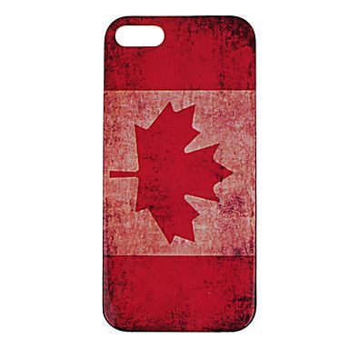 Retro Style Canadian Flag Pattern Plastic Hard Case Cover for iPhone 5/5S – CAD $ 4.16
