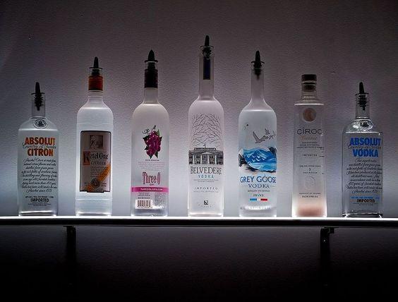 Bottle Display Liquor And LED On Pinterest