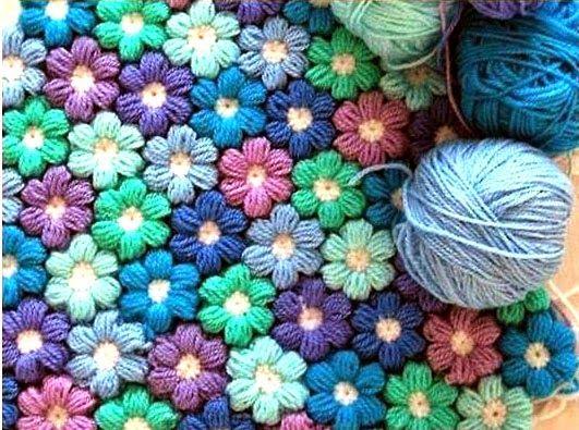 tejidos artesanales en crochet: como tejer en crochet una mantita de flores paso a paso