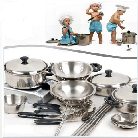 Pas cher 18 conjunto enfants enfants en acier inoxydable - Ustensile de cuisine pas cher ...