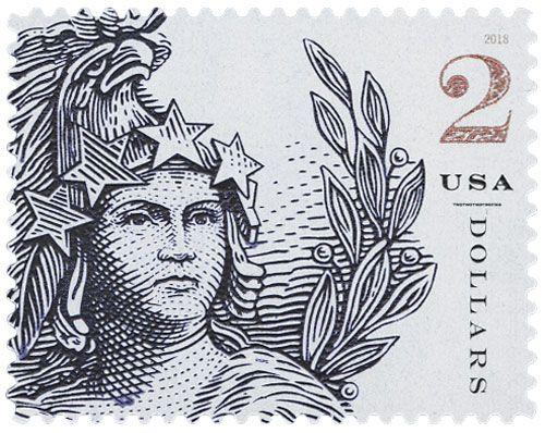 2018 2 Statue Of Freedom Postage Stamps Usa Postage Stamp Design Usa Stamps