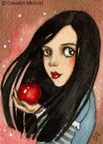 Bad Apple fairytale Snow White fantasy art by Carmen Medlin