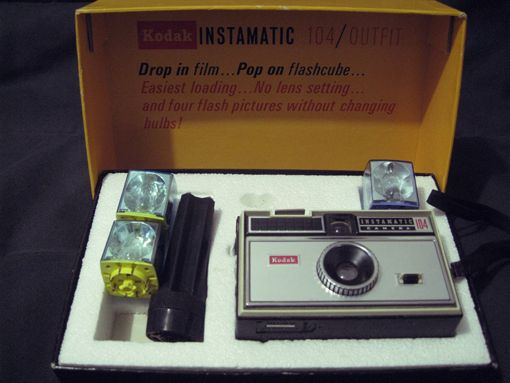 kodak's instamatic camera of the 1960s - oh, those flashcubes!