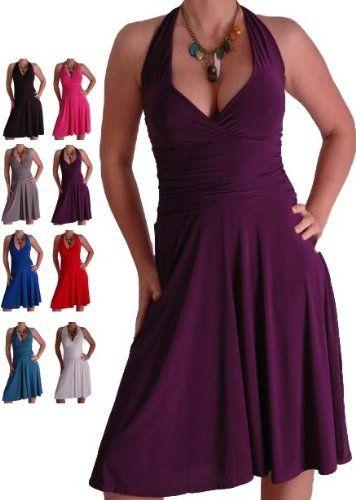 EyeCatchClothing - Nicole Neckholder Kleid: Amazon.de: Bekleidung