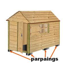 plan cabane bois de jardin+ abri jardin bois+cabanes à outils+cabane enfant