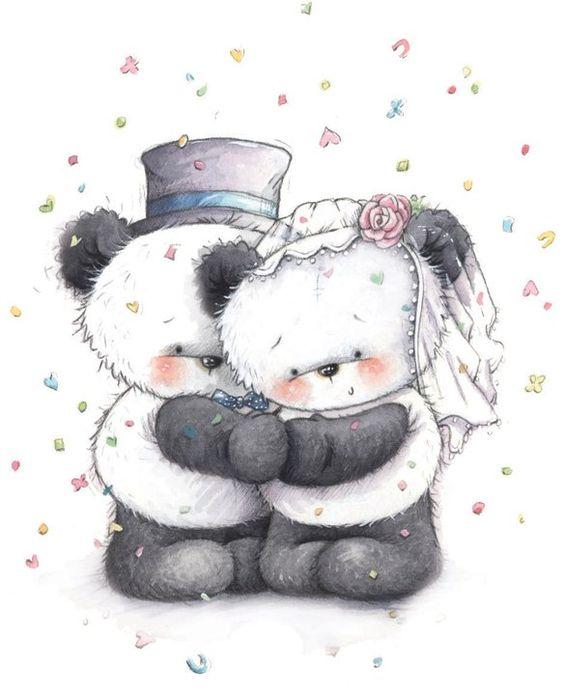 pandas bear hugs and wedding on pinterest