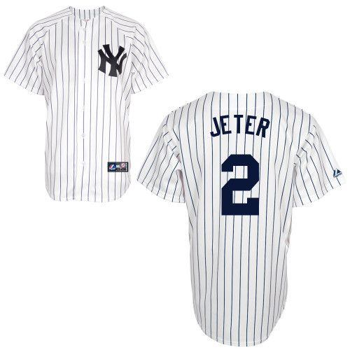 Youth Majestic New York Yankees 2 Derek Jeter Authentic White Name On Back Mlb Jersey New York Yankees Ny Yankees Yankees