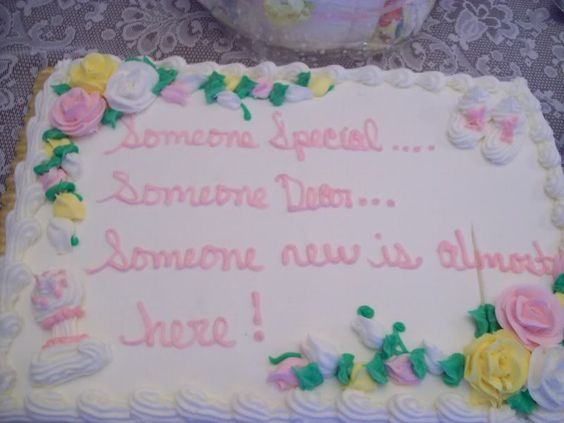 baby shower sayings for cakes