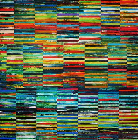 """DNA Landscape, 48"""" x 48"""", 2013"""