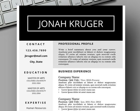 Uber modern design resume template Save Time, Get Your Dream Job - microsoft word resume templates 2018