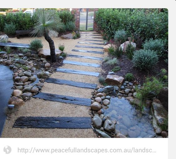 reclaimed timber pathway