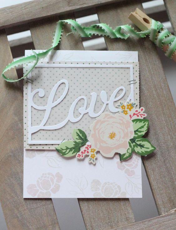 papertrey ink love die rosie posie maggie holmes open book - goldensimplicity.com