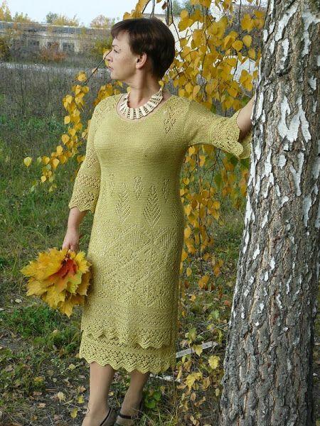 клуб осинка вязание онлайн спицами детское платье модадром