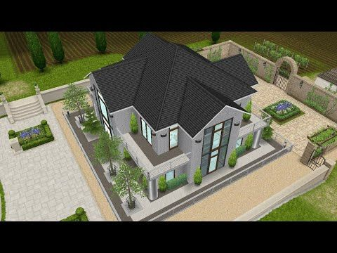Modern Traditional Duplex House Build And Floor Plan Sims Freeplay Youtube Sims House Sims Freeplay Houses Sims House Plans