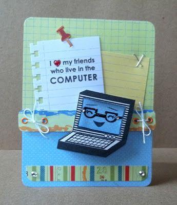 Market Street Stamps-Computer Cutie
