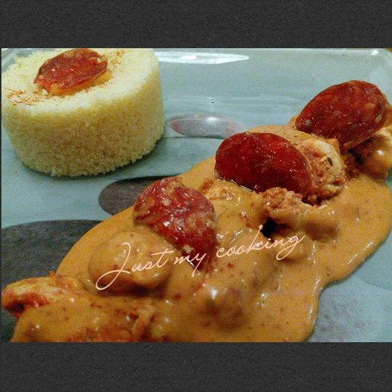 Emincé de poulet sauce chorizo (Thermomix)