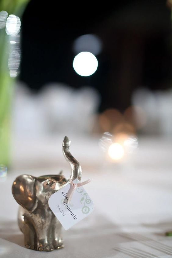 Wedding favour - traditional good luck elephant