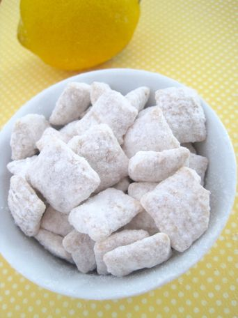 Lemon and white chocolate puppy chow