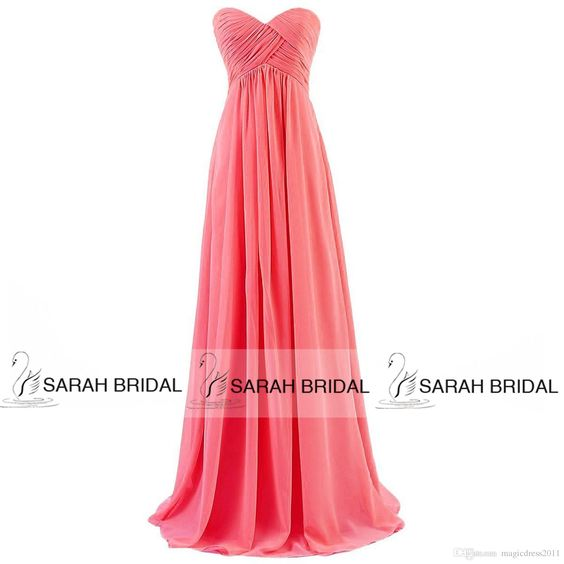 Wholesale 2015 Cheap Coral Bridesmaid Dresses IN STOCK Champagne Lilac Red Mint Orange Chiffon Maid of Honor Dress A-Line Sweetheart Long Formal Dress, Free shipping, $65.97/Piece | DHgate Mobile