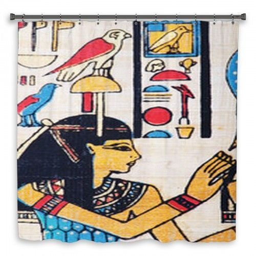 Colorful Design Egyptian Papyrus Art As A Background Shower